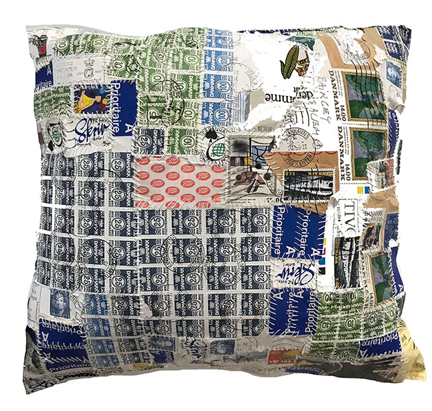 """Stamp Pillow"" by Kim Fairley 1993"